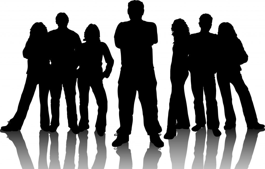 Group Silhouette Representing Paxful Owners